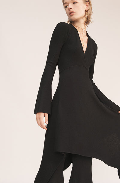 THE ST MORITZ  WOOL VNECK DRESS (CHAPTER THREE by Arjí©)