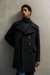 THE RYLIE WOOL COAT IN SAPPHIRE