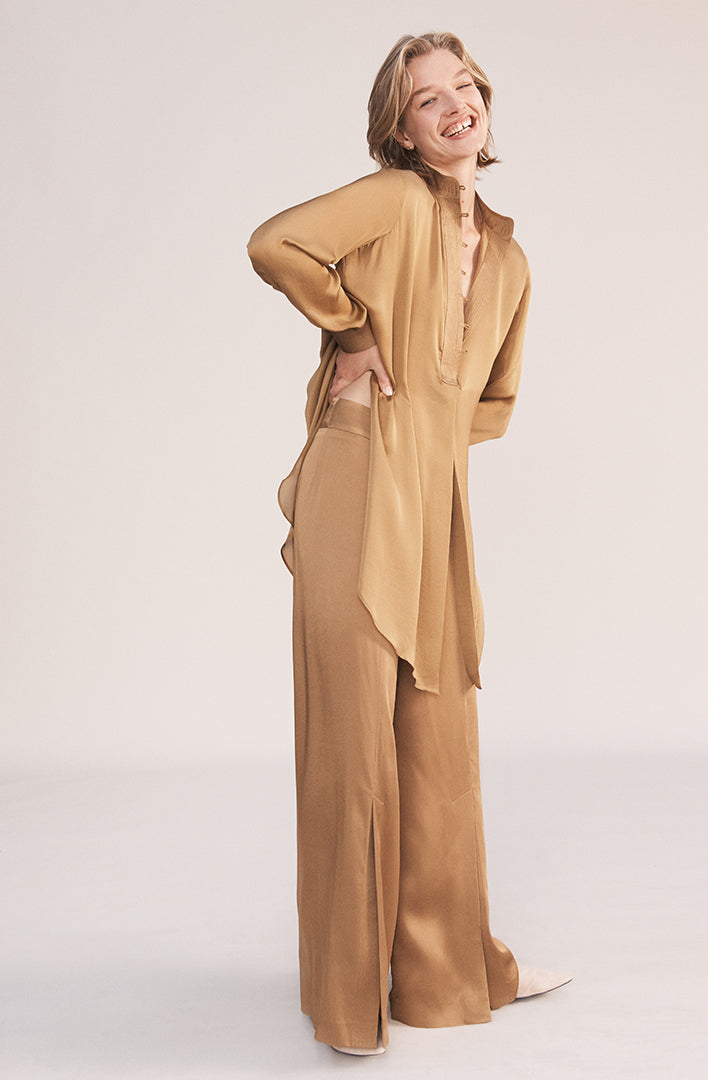 THE CORI ORIENTAL VISCOSE SLIT PANTS (CHAPTER THREE by ArjÌ_å©)