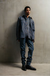 THE KEANU DENIM SHIRT IN AZUL