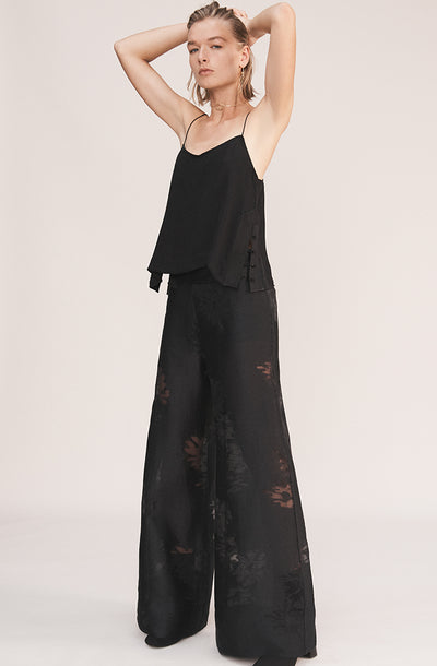 THE SIERRA DEVORÉ SILK BLEND PANTS