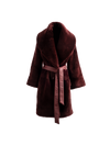 The Anais Reversible Shearling Coat In Rioja