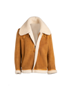 The Geo II Reversible Shearling Jacket In Camel