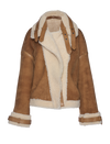 THE LUNA CURLY HAIR REVSERIBLE SHEARLING JACKET (Chapter Three by Arjé)