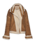 THE LUNA CURLY HAIR REVSERIBLE SHEARLING JACKET