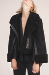 THE CASS CURLY HAIR SHEARLING JACKET