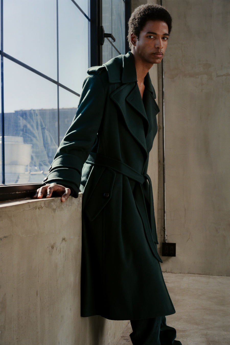 THE OSCAR TRENCH COAT IN EMERALD