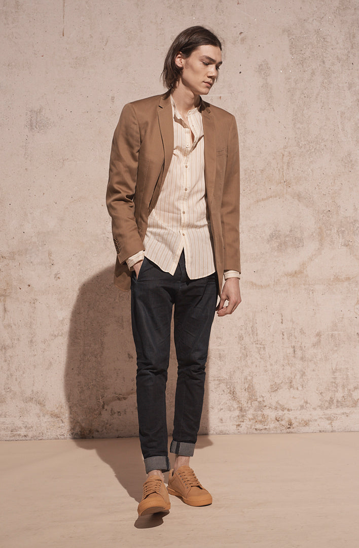 THE ELI SINGLE BUTTON FINE WOOL BLAZER