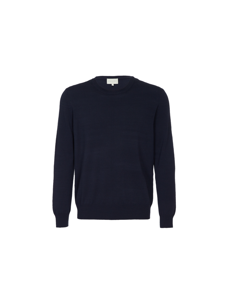THE SANTORINI MERINO WOOL ROUND NECK SWEATER