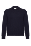 THE ADRIEN CROSS NECK CASHMERE BLEND SWEATER