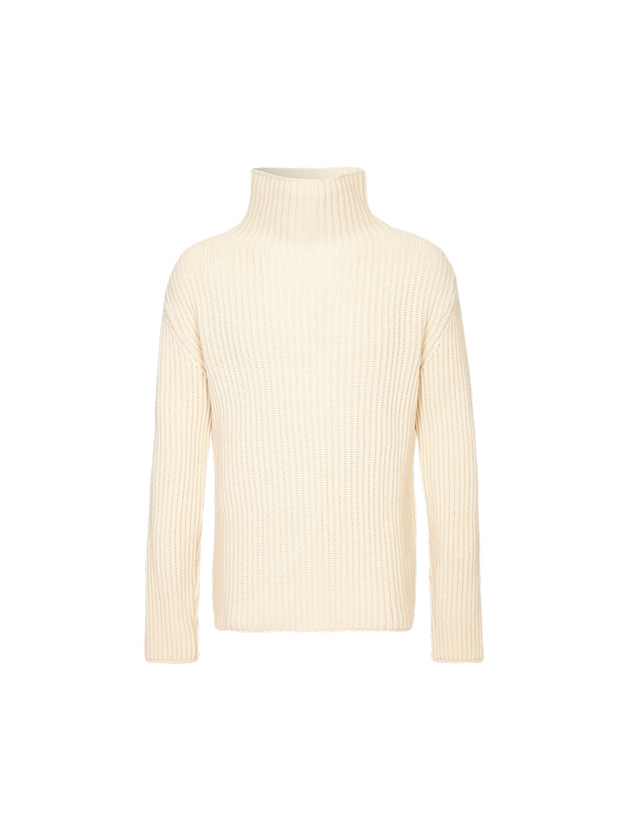 THE GIACOMO CHUNKY CASHMERE BLEND TURTLE NECK SWEATER