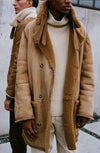 THE COSMO SHORT HAIR REVERSIBLE SHEARLING COAT