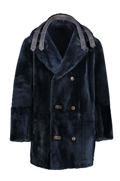 THE COSMO LONG HAIR REVERSIBLE  SHEARLING COAT