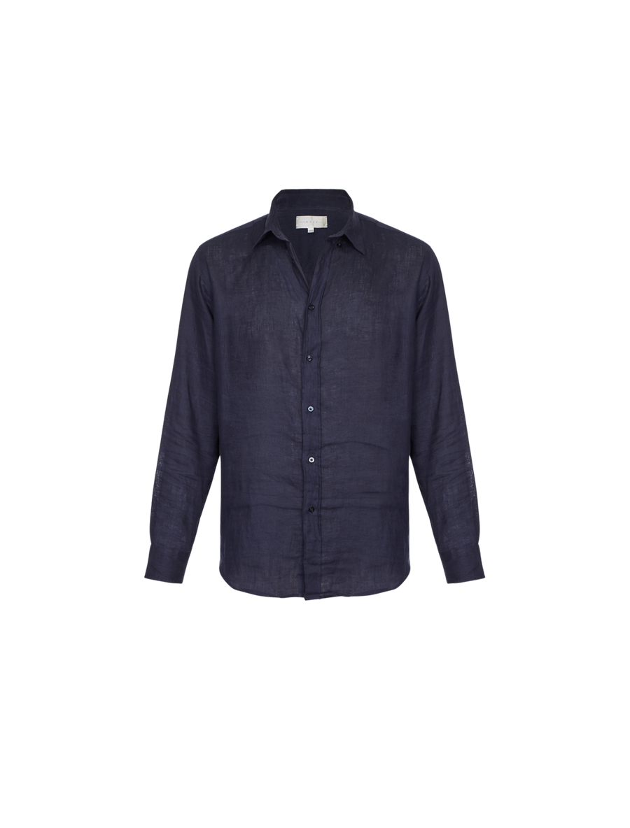 THE MARLBORO MAN LINEN SHIRT IN SAPPHIRE