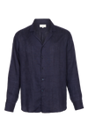 THE JAQUES OPEN COLLAR LINEN SHIRT
