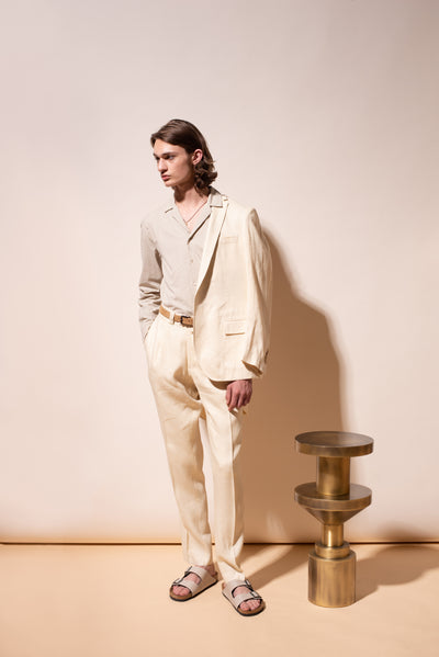 THE ELI SINGLE BREASTED LINEN BLAZER