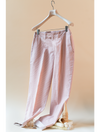 THE JONA SINGLE PLEAT CRINKLED COTTON STRPES PANTS