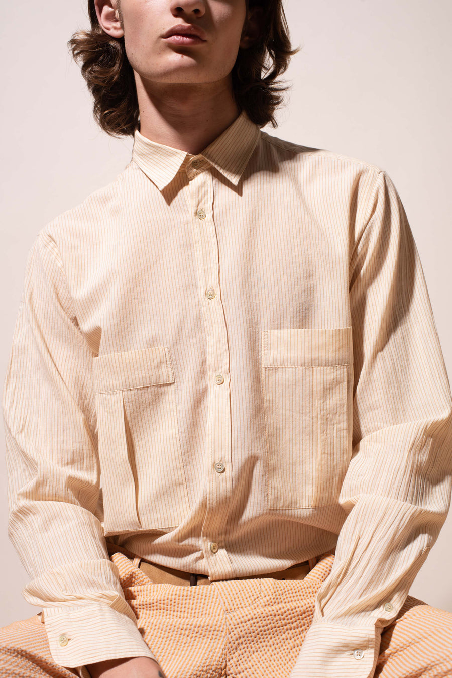 THE MARLBORO MAN STRIPE COTTON SHIRT