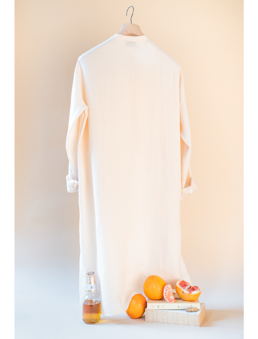THE KORAL LONG KAFTAN LINEN SHIRT