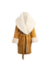 The Anais Reversible Shearling Coat In Honey