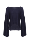 THE MILOS OPEN SLEEVE ROUND NECK KNIT