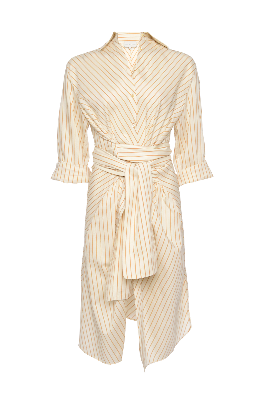 THE LINA COTTON STRIPED WRAP DRESS