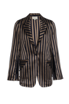 THE RO STRIPED SATIN BLAZER