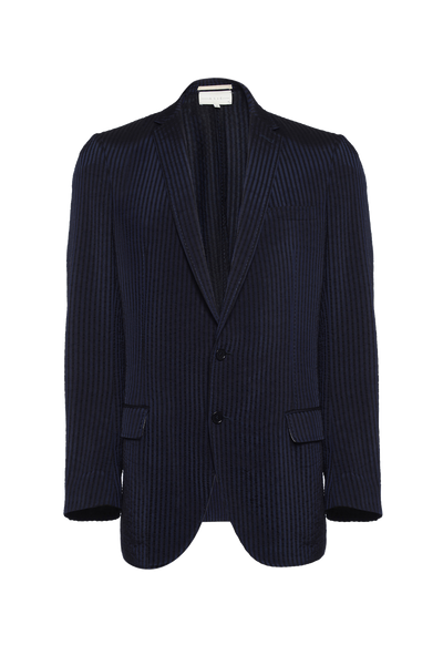 THE ELI CRUSHED STRIPED BLAZER