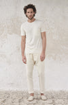 THE ROUND NECK LINEN JERSEY TSHIRT