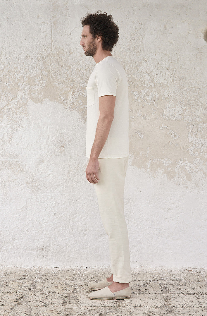THE LIVED IN LINEN ROUND NECK T-SHIRT