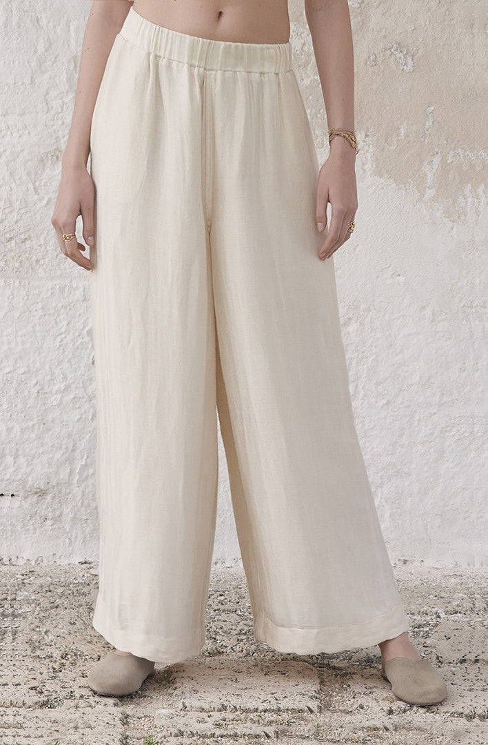 THE ORIENTAL LINEN PULL ON PANTS