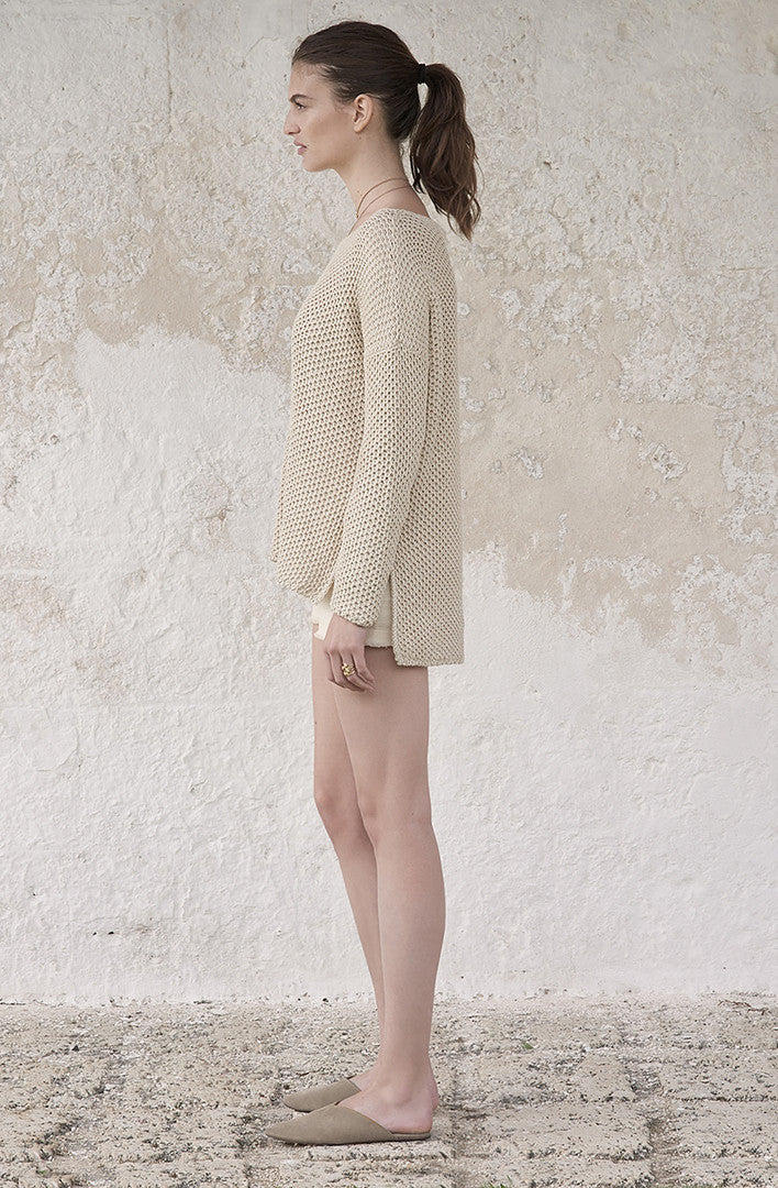 THE WICKER WEAVE SWEATER