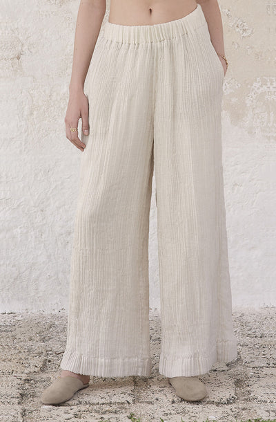 THE CRUSHED CRINKLED STRIPED PANTS