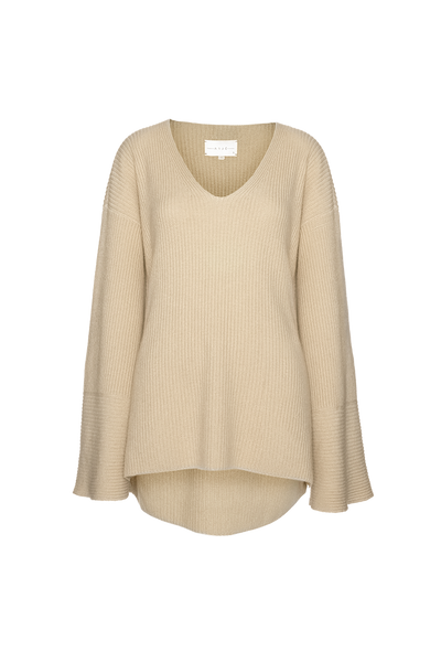 THE CORTINA CASHMERE BLEND V-NECK SWEATER