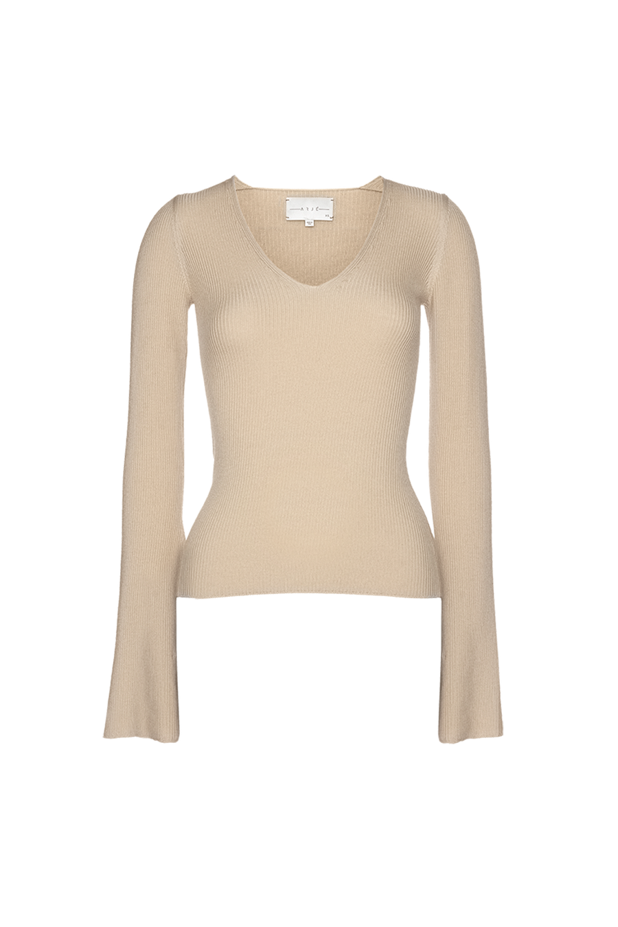 THE ST MORITZ WOOL FITTED VNECK KNIT
