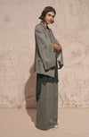 THE FREDS WIDE LEG FINE WOOL PANTS