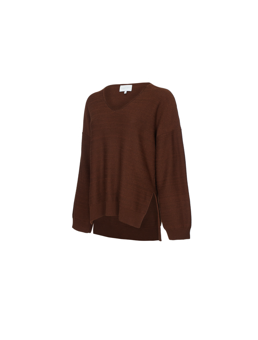 THE JULES CASHMERE BLEND VNECK BOX SWEATER