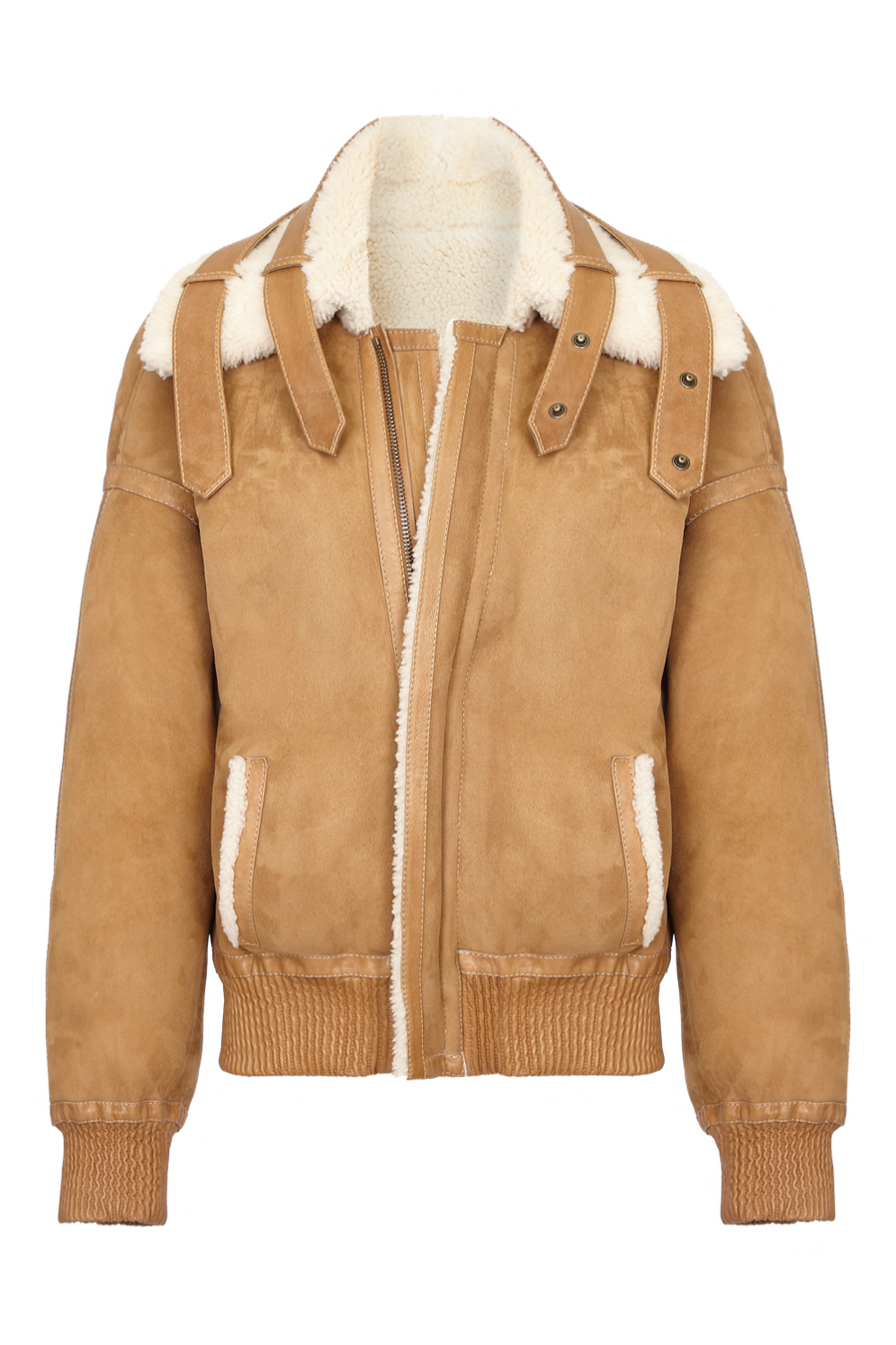 THE PLUTO REVERSIBLE SHEARLING JACKET