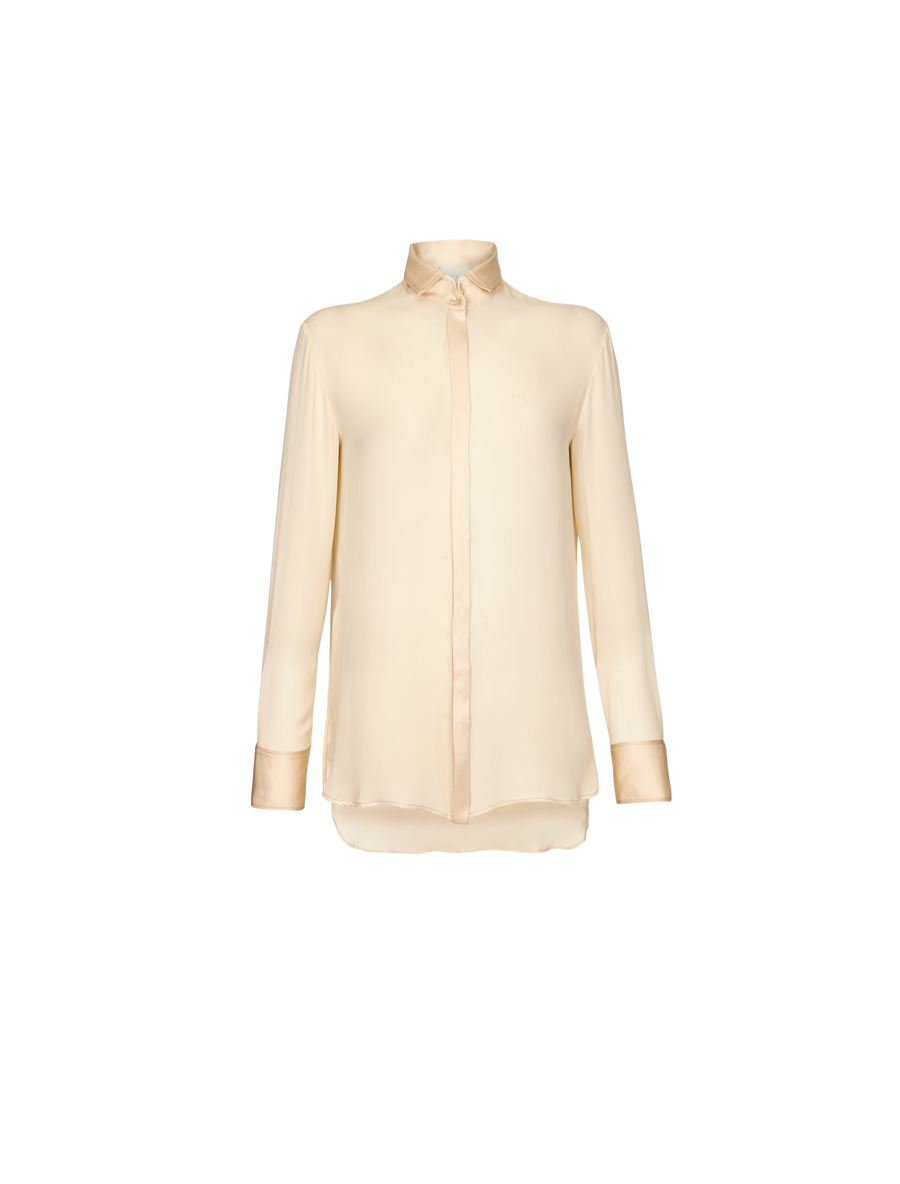 THE YAZ LONG LAYERED SILK SHIRT