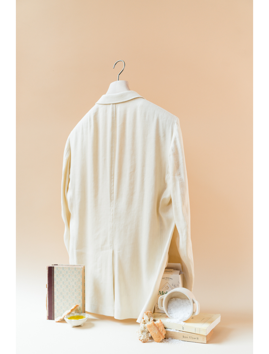 THE REY RELAXED  LINEN VISCOSE BLAZER