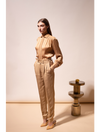 THE SABI RELAXED LINEN VISCOSE TAILORED TROUSERS