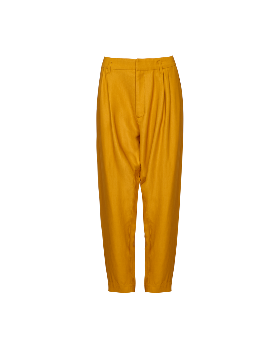 THE ALLA LOW CROTCH VISCOSE TWILL PANTS