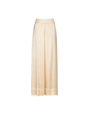 THE AMORA WIDE LEG GLOSSY VISCOSE PANTS