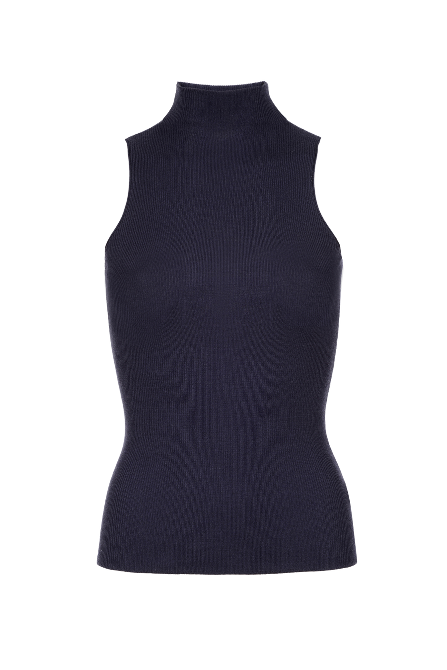 THE SANTORINI SLEEVELESS TURTLE NECK KNIT