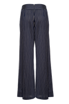 THE CORI STRIPED COTTON SLIT PANTS