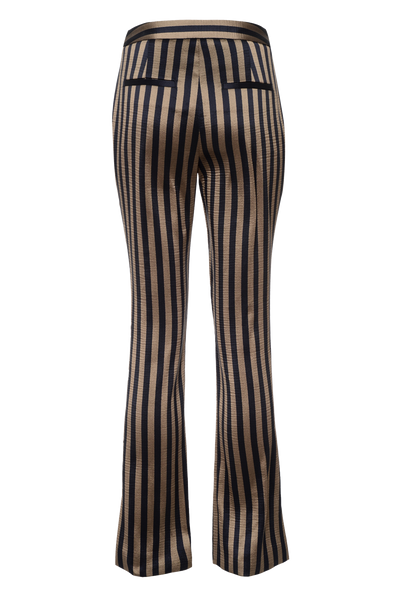 THE ROX STRIPED SATIN TAILORED PANTS