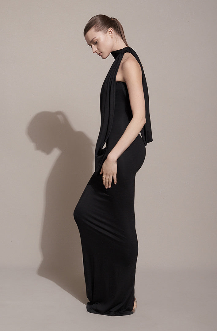 THE OPEN BACK ENDLESS WRAP DRESS