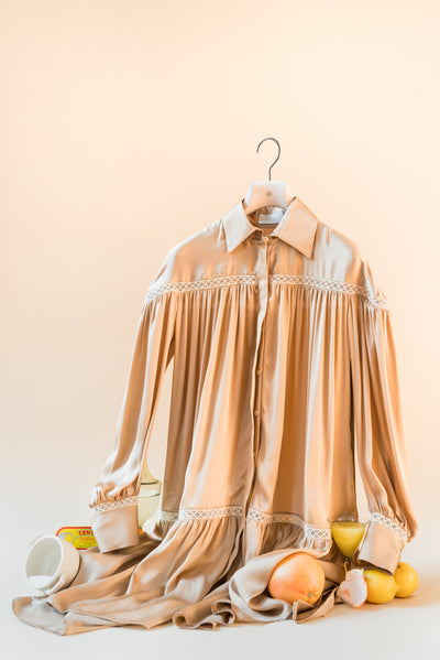 THE BEA SILK SHIRT DRESS