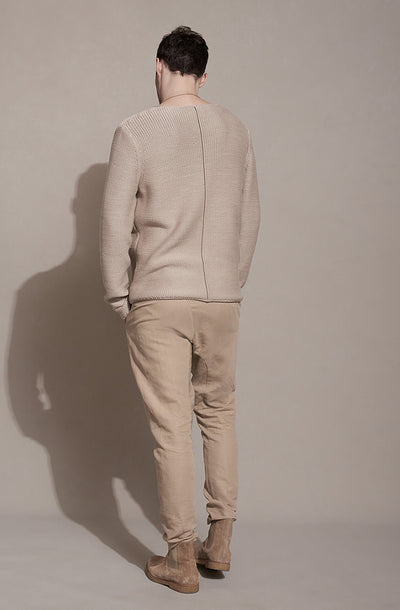 THE REVERSE KNIT SWEATER