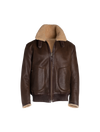 The Neptune II Reversible Shearling Jacket In Cognac